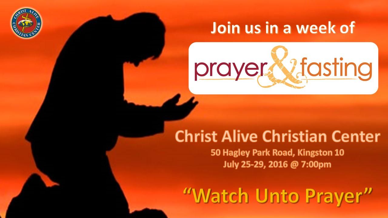 Prayer & Fasting July 2016